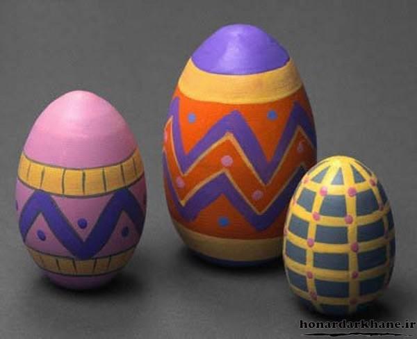 رنگ آمیزی تخم مرغ های هفت سین