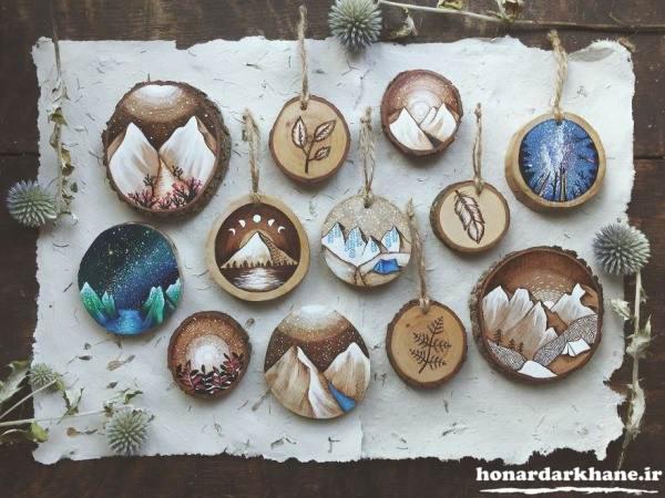 مدل نقاشی بر روی چوب