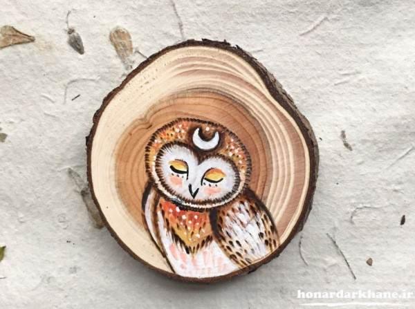 مدل نقاشی زیبا روی چوب