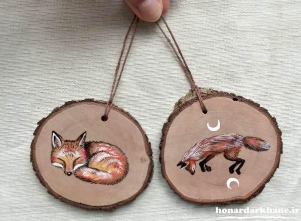 آموزش نقاشی روی چوب