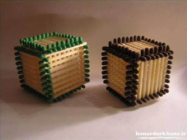 خلاقیت زیبا با چوب کبریت