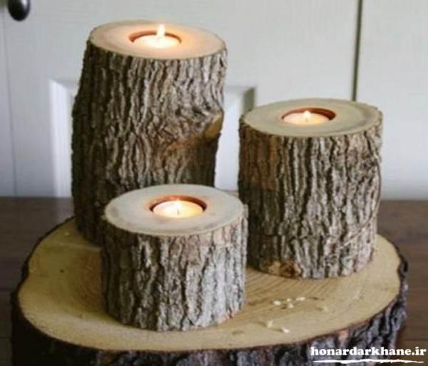 ساخت جاشمعی با چوب