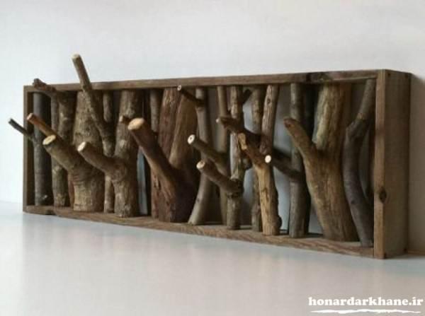 ساخت دکوری با چوب درخت