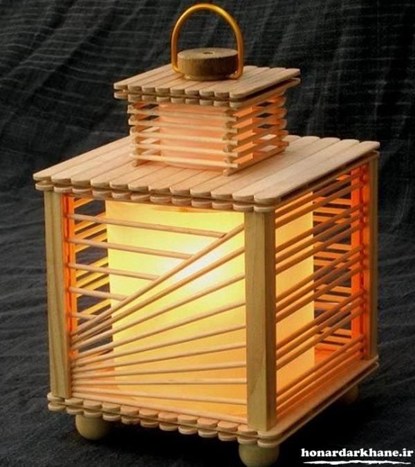 ساخت چراغ خواب با چوب