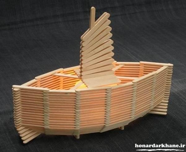 ساخت قایق با چوب بستنی