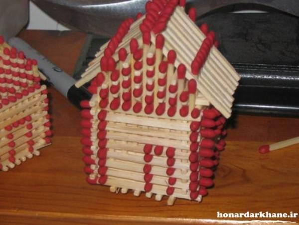 خلاقیت با چوب کبریت