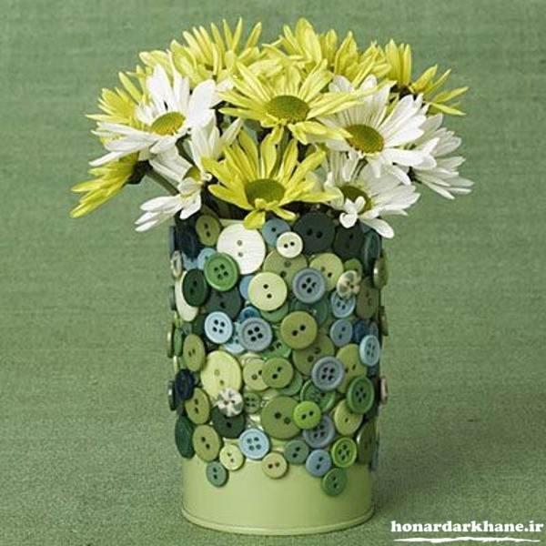 خلاقیت در ساخت گلدان تزیینی