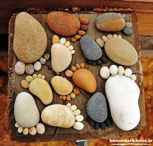خلاقیت با سنگ