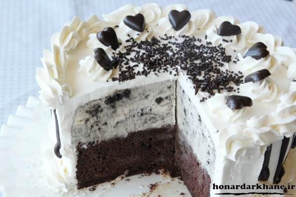 تزیین کیک ساده با خامه