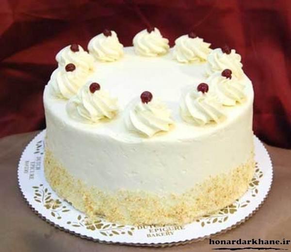 تزیین جدید کیک با خامه