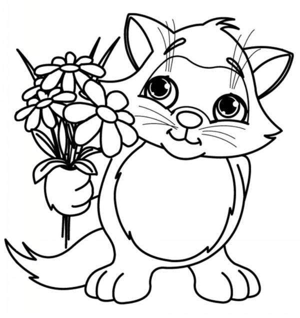 نقاشی گربه کودکانه
