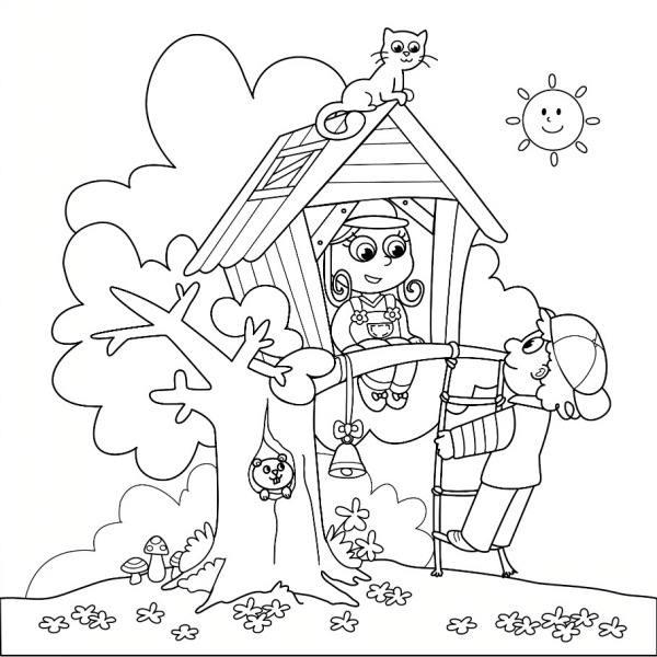 نقاشی خانه و درخت برای کودکان