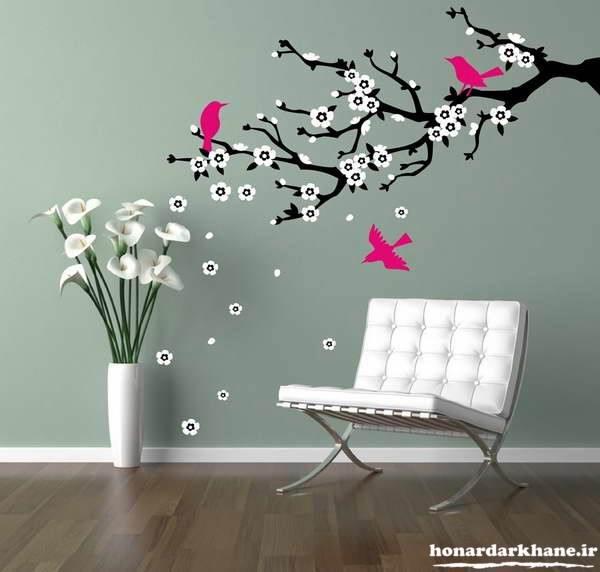 آموزش نقاشی روی دیوارهای منزل