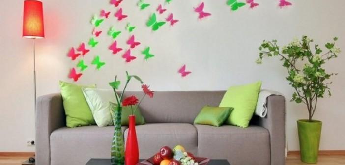 تزیین دیوار با وسایل ساده