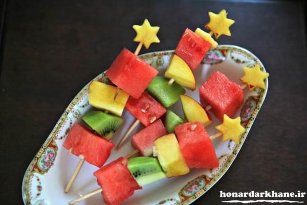 عکس تزیین میوه در ظرف