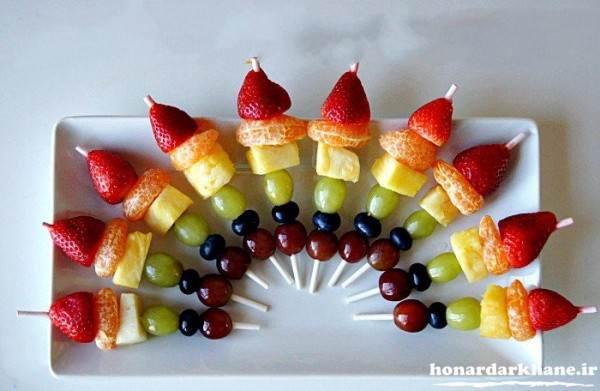 تزیین میوه جدید وشیک برای مهمانی