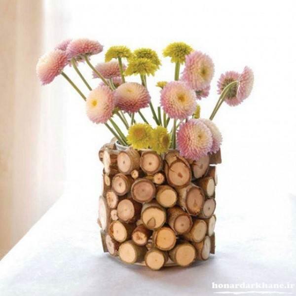 گلدان های چوبی دکوری