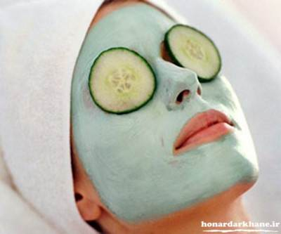 ماسک صورت با خیار برای پوست های جوش دار