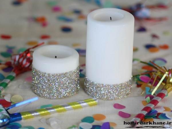 شمع آرایی ساده و زیبا