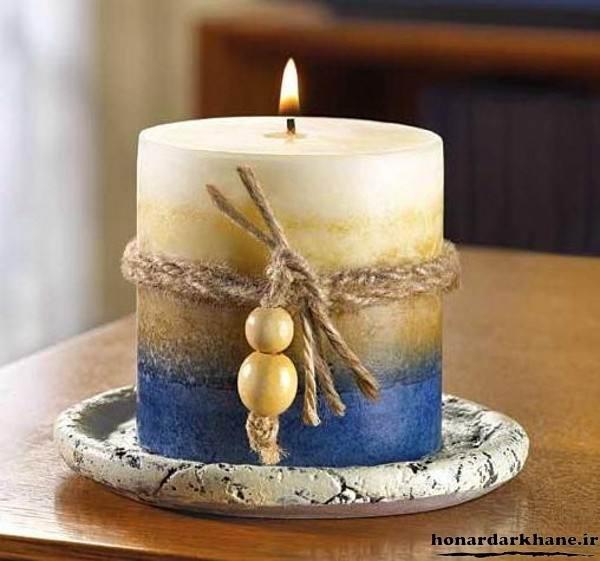 تزیین روی شمع