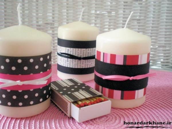 شمع های روبانی زیبا