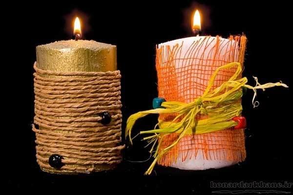 تزیین زیبای شمع
