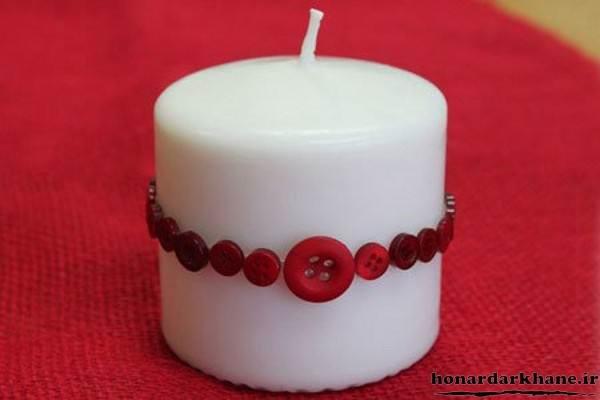 تزیین ساده شمع استوانه ایی