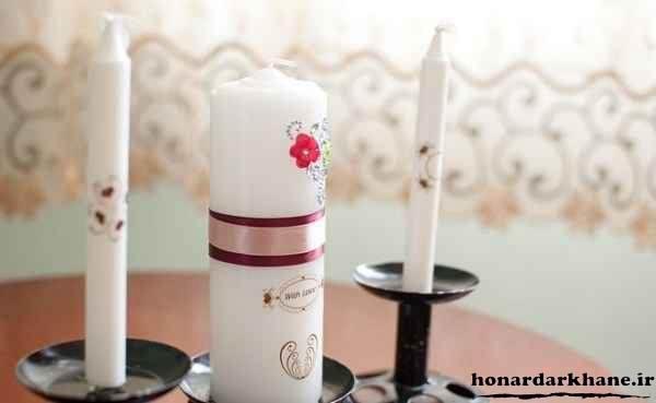 تزیین روی شمع های ساده