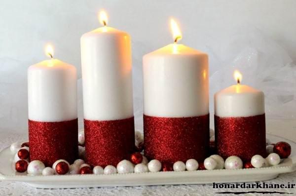 تزیین روی شمع با اکلیل