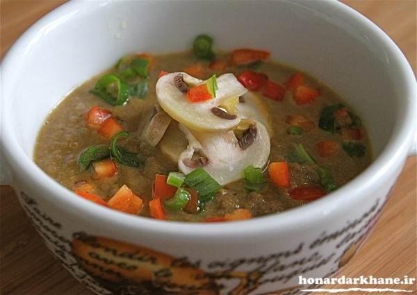 تزیین ظرف سوپ