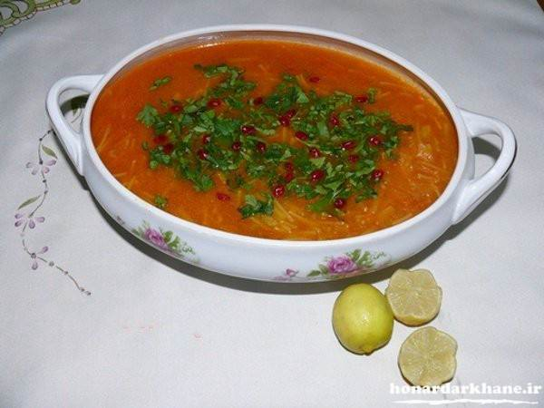 تزیین ساده سوپ
