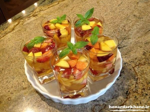 تزیینات ژله با میوه