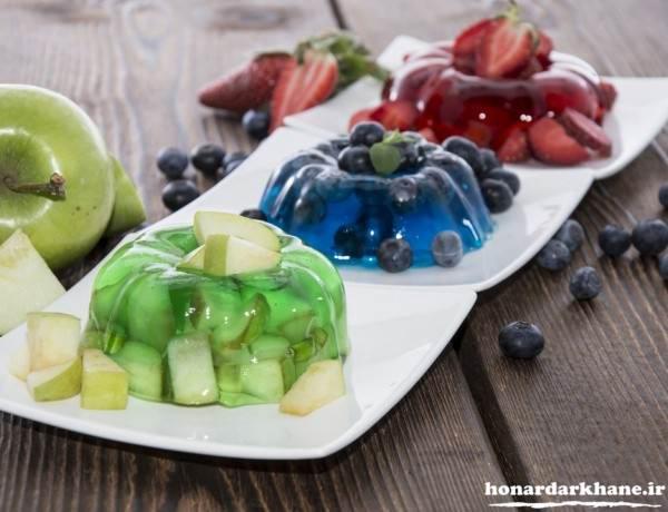 ژله قالبی ساده با میوه