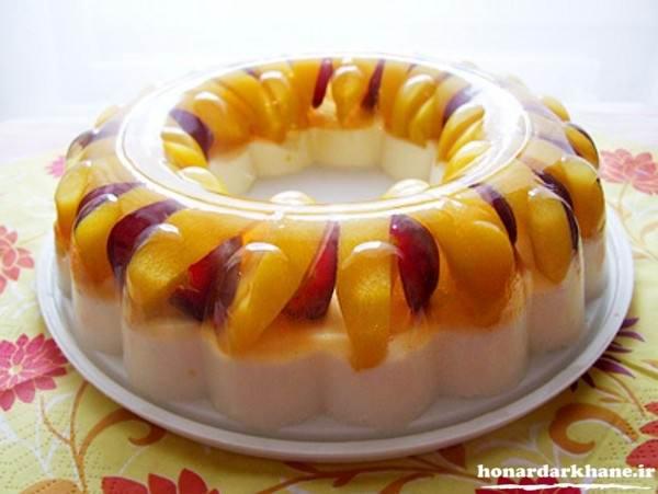 ژله با میوه های فصل