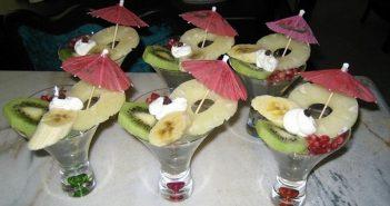 تزیین ژله با میوه فصل