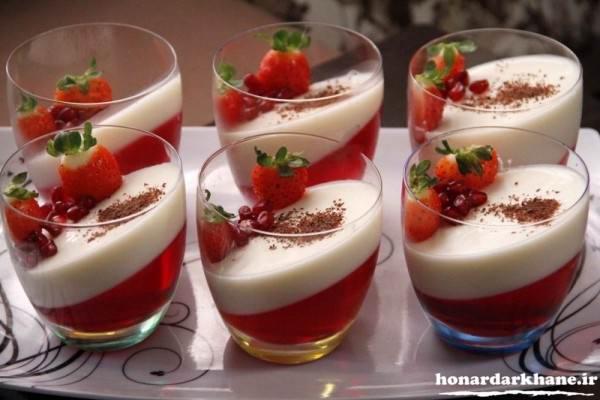 تزیین ژله بستنی با میوه