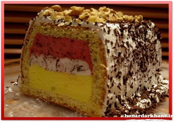 تزیین کیک بستین با خامه