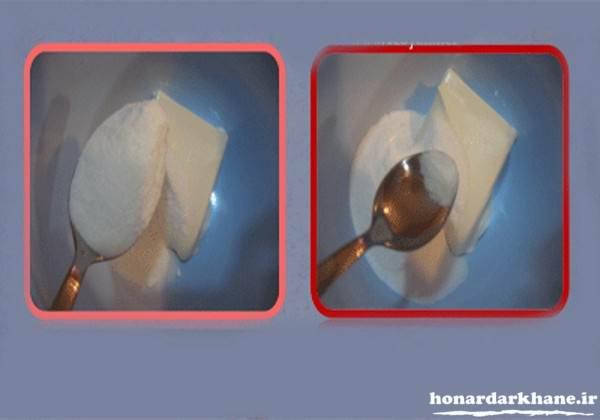 کیک بستنی ساده