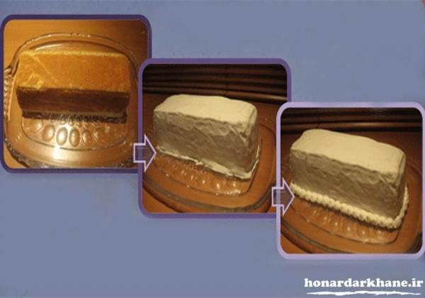 تزیین کیک بستنی