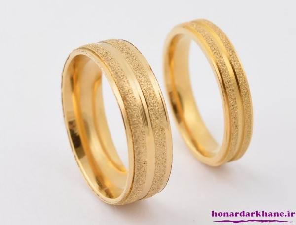 ست حلقه طلایی ازدواج