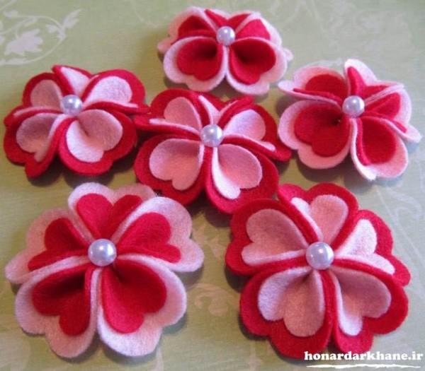 ساخت گل با پارچه نمدی