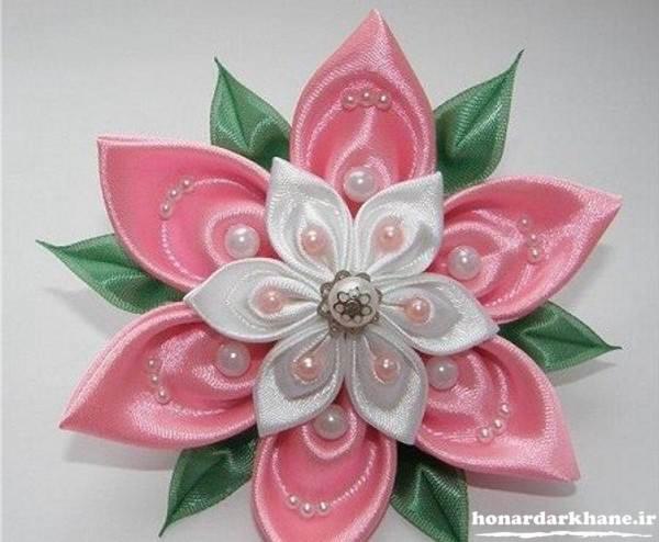 ساخت گل پارچه ای جدید
