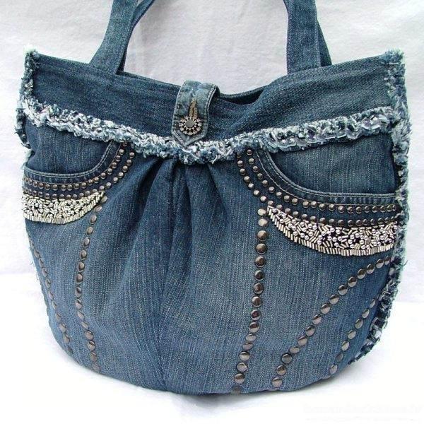 دوخت کیف با پارچه شلوار لی