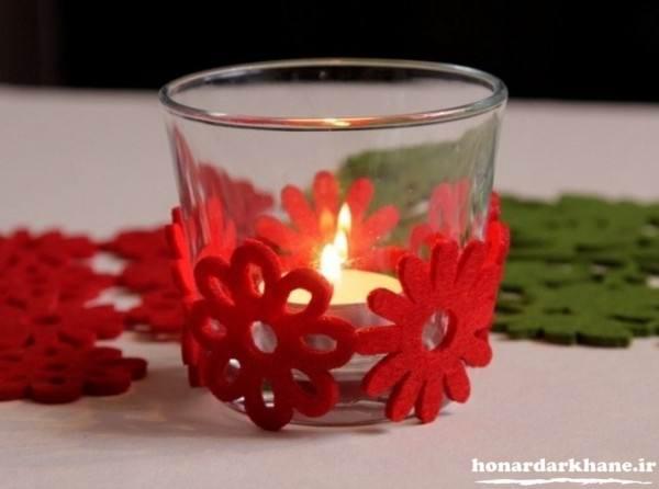 تزیین جا شمعی با پارچه