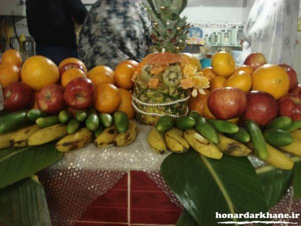 تزیین میوه برای سفره عقد