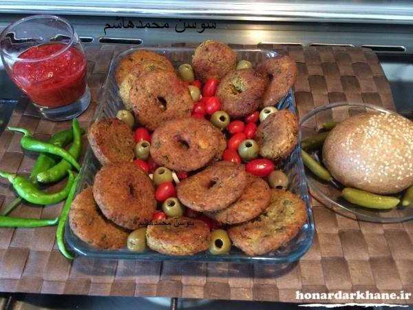 تزیین شامی کباب خوشمزه