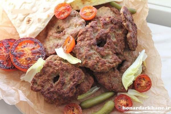تزیین شامی کباب سفره افطار