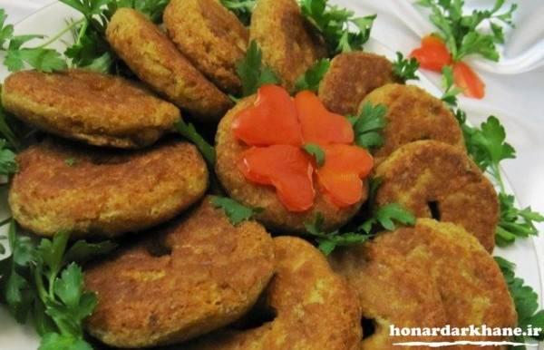 شامی کباب آرد نخودچی