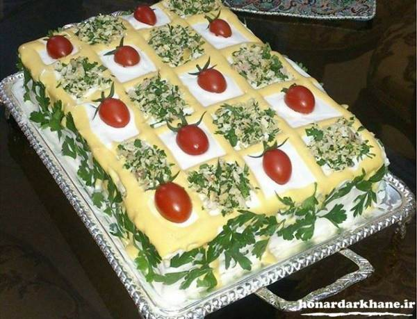تزیین زیبای کیک مرغ