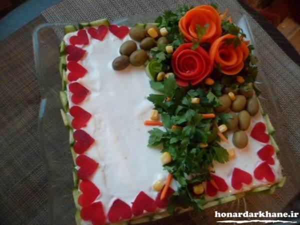 کیک مرغ شیک و زیبا